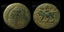 Ancient Coins - EGYPT, Alexandria. Antoninus Pius. AD 138-161. Æ Drachm ,34mm, Zodiac series. EX-RARE