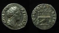 Ancient Coins - Diva Faustina Jr silver Denarius, 176-180 AD. Rare