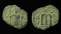 Ancient Coins - Constans II, AE Follis, 641-668 AD, Constantinople.