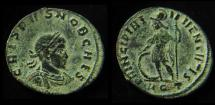 CRISPUS AE3. 316-317 AD. Aquileia mint, Beautiful desert patina!