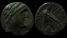 Ancient Coins - Seleukid kingdom, Demetrios II, Silver plated Tetradrachm. 11 g. Unofficial use, Ex-Rare!