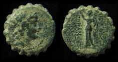 Ancient Coins - SELEUKID KINGS  Antiochos VI Dionysos. 144-142 BC. Æ 18mm, Probably Ake-Ptolemaïs mint.