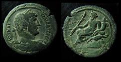 Ancient Coins - EGYPT, ALEXANDRIA. HADRIAN, 117-138AD. AE DRACHM. NILUS RECLINING