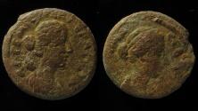 Ancient Coins - SYRIA, Decapolis. Gerasa. Faustina Junior. Augusta, AD 147-175. Æ 24mm.