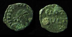 World Coins - VANDALS, IMITATION OF LATE ROMAN COIN, 10MM, RARE!
