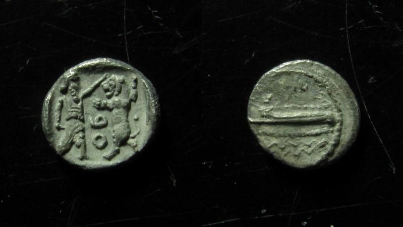 Ancient Coins - Phoenicia, Sidon. 372-358 BC. Silver 1/16 Shekel (0.7 gm). Superb!!