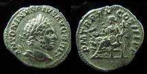 Ancient Coins - Caracalla silver Denarius. 212 AD.2.8gm