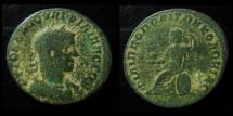 Ancient Coins - ARABIA, PHILIPPOPOLIS. PHILIP I, 244-249 AD. 29mm,  ROMA SEATED.