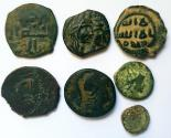 Ancient Coins - Lot of 7 Bronze Mixed Coins.
