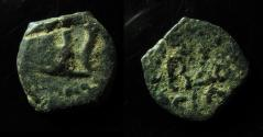 Ancient Coins - JUDAEA, HEROD THE GREAT, 40 - 4 BC. PRUTAH - TABLE / INSCRIPTION