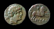 Ancient Coins - Spain, Bolscan-Osca. 2nd century BC, AE 18 mm. Rare.