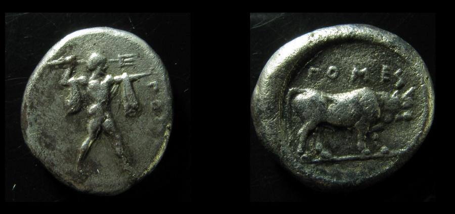 Ancient Coins - Lucania, Poseidonia. Silver Stater, c. 470-445. Rare!