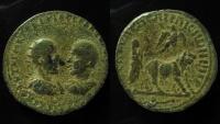 Ancient Coins - Mesopotamia, Resaena. Trajan Decius & Herennius Etruscus AE 25 mm.