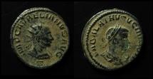 Ancient Coins - Vabalathus and Aurelian. AE Antoninianus. 271/272 AD. Antioch.