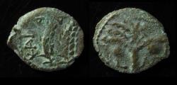 Ancient Coins - JUDAEA, COPONIUS. 6 - 9 AD. 1ST. PROCURATOR. Jerusalem Mint. DOUBLE STRUCK