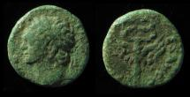 Ancient Coins - JUDAEA, Domitian. 81-96 CE. Æ 15mm, 'Judaea Capta' Issue.  Rare!!