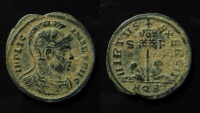 Ancient Coins - Licinius I, AE 19 mm. Aquileia mint. Unlisted obverse-reverse combination. Ex-rare!