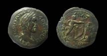 Ancient Coins - Egypt, Alexandria. Antoninus Pius, 138-161 AD. AE Drachm. Very rare.