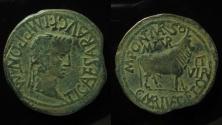 Ancient Coins - SPAIN, Turiaso. Tiberius As, AE 31 mm.