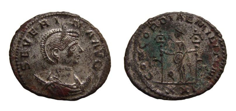 Ancient Coins - Severina, 270-275 AD. Billon Antoninianus. Antioch mint. 22 mm.