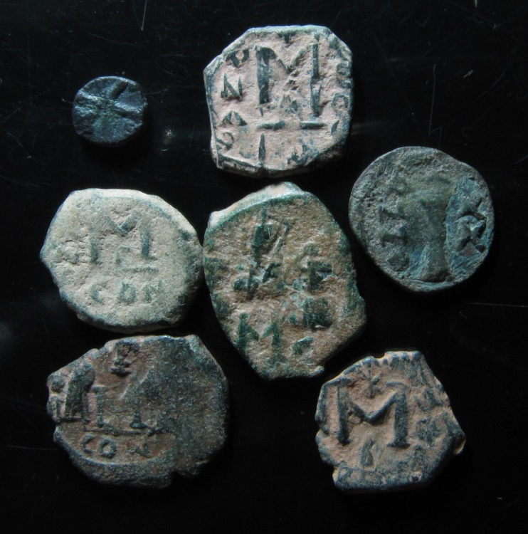 Ancient Coins - LOT OF 7 BYZANTINE BRONZE COINS
