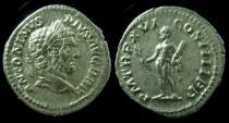 Ancient Coins - Caracalla silver Denarius. 213 AD. VF+