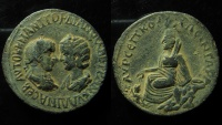 Ancient Coins - Gordian III and Tranquillina, Æ33mm of Carrhae, Mesopotamia. AD 238-244.