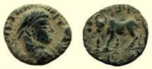Ancient Coins - Arabia. Petra. Elagabalus, 218-222 AD. AE 20 mm.