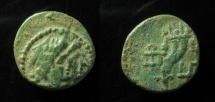 Ancient Coins - Phoenicia,Ake-Ptolemais, AE16mm,  110 BC. Type with Ake monogram, less than 5 known,Ex-Rare!!!