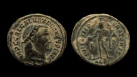 Ancient Coins - Galerius Maximianus, 305-311 AD. AE Follis, 24 mm. Alexandria mint.