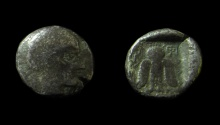 "Ancient Coins - Philistia, Ashkelon,1/4 sheqel / ""Drachm"", 450–400 BC, Silver 3.8 g. EX-RARE!! Less then 5 known!!!"