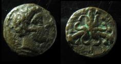 Ancient Coins - SICILY, SYRACUSE. CIRCA 425-415 BC. AE. OCTOPUS