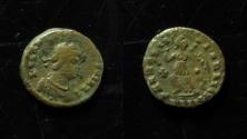 World Coins - IRREGULAR IMITATION OF LATE ROMAN COIN, 10MM, CRUDE LEGEND!