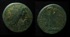 Ancient Coins - Ptolemy II Philadelphos AE Obol. Alexandria mint, ca 269-268 BC.  CLEAR LEGEND!