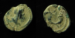 Ancient Coins - Arabia Petraea, AE 14 mm. First coin minted in Petra under Roman rule, as extension of the Nabataean series.
