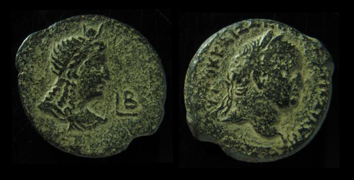 Ancient Coins - EGYPT, Alexandria.Vespasian 69 - 79 AD. Hemidrachm. Extremely Rare