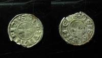 World Coins - Crusaders, Jerusalem, Amaury and Successors,1163 - c. 1219, Billon obol (half denier),15mm,0.4g, RRR!