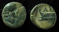 Ancient Coins - JUDAEA, ASCALON. AUGUSTUS. TYCHE / PROW, 17mm, EARLY TYPE! RARE