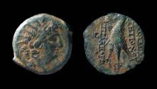 Ancient Coins - Seleucid Kingdom, Antiochos VIII, 125 - 96 B.C. AE 19 mm
