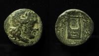 Cyrenaica, Cyrene. ca 308-277 BC. AE 17mm.