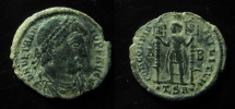 Ancient Coins - Vetranio. AD 350. Æ Centenionalis (22mm, 4.81 g, 6h). Thessalonica mint, 1st officina. EF!!!