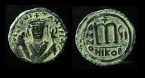 Ancient Coins - Tiberius II, AE Large follis, Nicomedia mint, Superb Example!