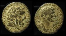 Ancient Coins - PHOENICIA, Dora. Hadrian, 117 - 138 AD. Head of Doros.