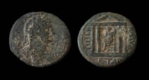 Ancient Coins - Judaea. Tiberias. Hadrian, 117-138 AD. AE 24mm.