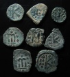 Ancient Coins - LOT OF 8 BYZANTINE BRONZE COINS