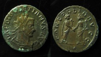 Ancient Coins - Diocletian. AE Antoninianus, Two figures of Concordia standing facing one another. Ex-Rare!