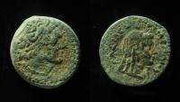 Ancient Coins - Ptolemy V, 204-180 BC, AE21mm. Kyrene mint, RARE