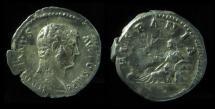 Ancient Coins - HADRIAN, 117-138 AD. SILVER DENARIUS. Hispania, (2.7g), Rare