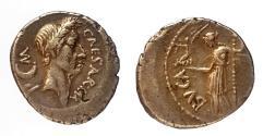 Ancient Coins - Julius Caesar. Silver Denarius (3.81g), ca. 44 BC. Rome. One of Julius Caesar's last coins! Very rare!