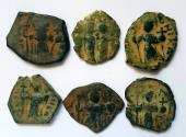 Ancient Coins - Lot of 6 Arab-Byzantine Bronze Follises.